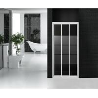 Partition Bathroom Shower Stall Sliding Glass Doors Frost Glass With Stripes Manufactures
