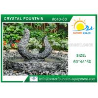 Rolling Granite Ball Fountain , Stone Sculpture Outdoor Garden Fountains Manufactures