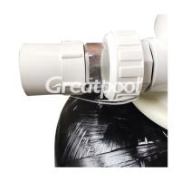 Quality 400mm Black Fiberglass Top Mount Sand Filter Cleaning Equipments For Swimming Pool for sale