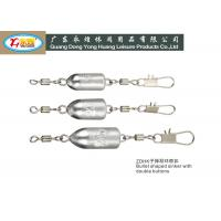 Buy cheap 40G bullet type with swivel and buttons Lead Fishing Sinkers weight die casting from wholesalers