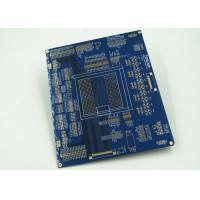 Blue Multilayer PCB For Controller White Silkscreen Gold Surface Finish Manufactures