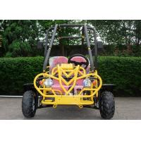 Yellow Cool Side By Side Go Kart Hydraulic Brake Three Speeds with Reverse Manufactures