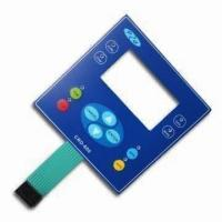 Quality Industrial Equipment Panel Membrane Switch Backlit Keyboard 35V / 1W for sale