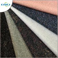 Diamond Chunky Glitter Fabric Sheets Canvas Backing Anti Mildew Waterproof Manufactures