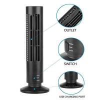 Creative Household Mini Tower Fan , USB Tower Desk Fan With Manual And Remote Control Manufactures