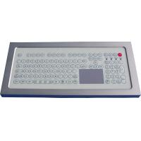 USB Industrial Membrane Desktop Keyboard  , Compact Keyboard With Touchpad Manufactures