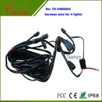 Fireproof and Waterproof Wiring Harness with DT connectors for 4 LED Lights Simultaneously Manufactures