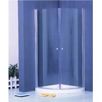 Quality Colorful Pivot Shower Enclosure With Shower Tray , Glass Round Corner Shower Units for sale