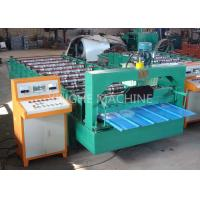 Color Coated Highly Effective Cold Roll Forming Machines , Metal Roofing Roll Former Manufactures