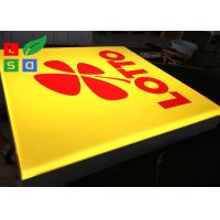 Wall Mounted LED Outdoor Light Box , Silk Screen Printed Logo LED Advertising Signs Manufactures