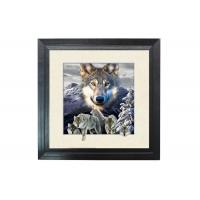 5D Effect Wolf 3D Lenticular Photo Printing For House Decoration MDF Frame Manufactures