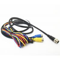 Vehicle CCTV Backup Camera Cable 9pin Din To 2x4pin Plug With DC Connector Manufactures