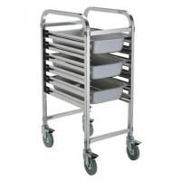 Assembled 1/1 Full Size GN Pan Holding Rack Single or Double Column Stainless Steel Catering Equipment Manufactures