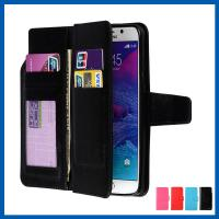 China Magnet Galaxy S6 Case Cell Phone Wallet Case Credit Card Holder Built In 9 Card Slots on sale