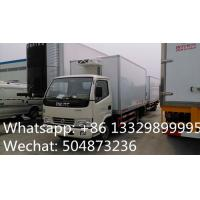 CLW brand 3tons refrigeratated truck with meat hooks for sale, best price 3-5tons cold room truck for fresh meat/beef Manufactures