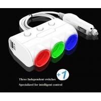 Car Accessories Colored LCD with Voltage Test Socket Adapter for Car Cigarette Lighter Manufactures