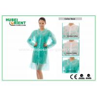 PP & MP & TVK Disposable Laboratory Coats With Velcro And Shirt Collar Manufactures