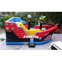 Kid Attractive Inflatable Combo Bouncers Pirate Ship Bouncer For Amusement Park Manufactures
