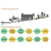 Industrial Automated Pet Food Extruder Machine Siemens PLC & Touch Screen Controlled Manufactures