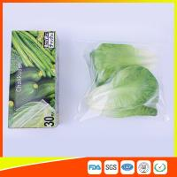 Resealable LDPE Clear Ziplock Freezer Storage Bags For Vegetable Manufactures