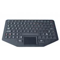 Quality 89 key Silicone backlit  ruggedized keyboard with sealed touchpad , optional trackball for sale