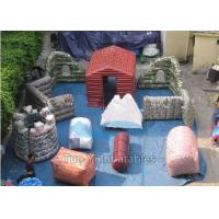 Fire Proof PVC Inflatable Paintball Bunkers For Military Laser Tag Arena Manufactures