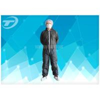 S To 5XL Disposable Coverall Suit / Disposable Hooded Coveralls PE Coated For Men Manufactures