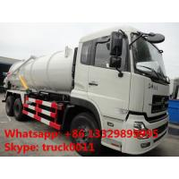 best price DONGFENG TIANLONG 6*4 16M3 vacuum tank truck for sale, factory sale dongfeng16cbm sewage suction truck Manufactures