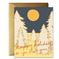 Craft Paper Greeting Cards , Recycled Personalized Holiday Greeting Cards Manufactures