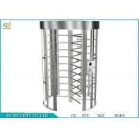 Dual Passage Full Height Turnstiles Gate Single Channel Access Control System Manufactures