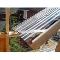 Clear Lexan Corrugated Polycarbonate Panels , Corrugated Skylight Panels Manufactures