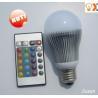 High power E27/E26/E14/B22 3w RGB 16 Colour change LED light bulb with remote 6M Manufactures