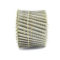 15 Degree .120''*3'' Bright Finish  Screw Shank Flat Head / Checked Head Pallet Coil Nails Manufactures
