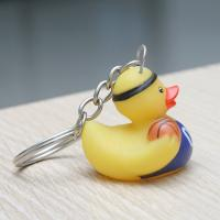 Quality Harmless Cute Sports Theme Mini Duck Keychains Gift For Kid'S Birthday Parties for sale