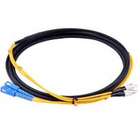 Armored SC - FC Patch Cord , SM Duplex Fiber Optic Jumper Waterproof / Sunblock Manufactures