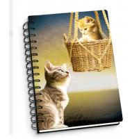 Cartoon Pet Hardcover 3d Lenticular Notebook With Spiral Binding For Student Diary Manufactures