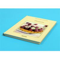 Gloss Lamination Customized Cookbook Printing , Hardcover A4 Book Printing Manufactures