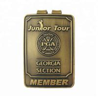 Wholesale promotion gold metal money clips with customized logo Manufactures