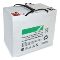 Quality Black 55ah Deep Cycle Lead Acid Battery 12v Sealed , 16kg Weight for sale