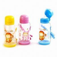 Kid's Water Bottles, Made of Plastic, Suitable for Promotional Gifts, BPA-free Manufactures