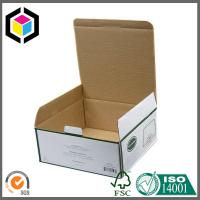 Green Color Printed Paper Corrugated Box; Self-Locking Tab Paper Packaging Box Manufactures