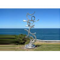 Contemporary Art Stainless Steel Sculpture For Outdoor Decoration Anti Corrosion  Manufactures