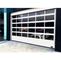 Thermal Insulated Aluminum Frame Organic Glass Sectional Doors Manufactures