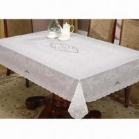 PVC Lace Table Cloth, Embossed PVC Surface, Endure dirty, Not Fade, Fire Resistance, Wipe Clean Manufactures