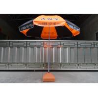 Orange And Black Outdoor Garden Umbrella Heat Transfer Printing , Eco - Friendly Manufactures