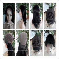 Buy cheap 100% Human hair lace front wig indian remy silk straight hair,120%-180% density from wholesalers