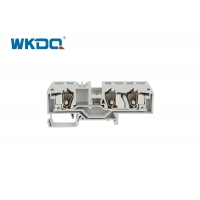 284-681 Cable Spring Connector 3 Conductor Through Spring Clamp Terminal Block For Rail Mounted Manufactures