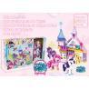 Lighting Plastic Castle Building Blocks Educational Toys Set With 3 X AG13 for sale