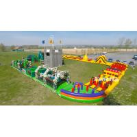Durable PVC Tarpaulin Running Race Giant Inflatable 5k Obstacle Course For Event Manufactures