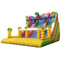 0.9mm PVC Material Large Inflatable Slide Jungle Theme For Adults / Children Manufactures